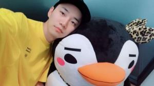 '이준호' 공개된 사진에는 귀여운 펭귄 인형과 ...