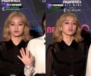 지효, '차분+시크' 레드카펫서 빛난 인형 미모